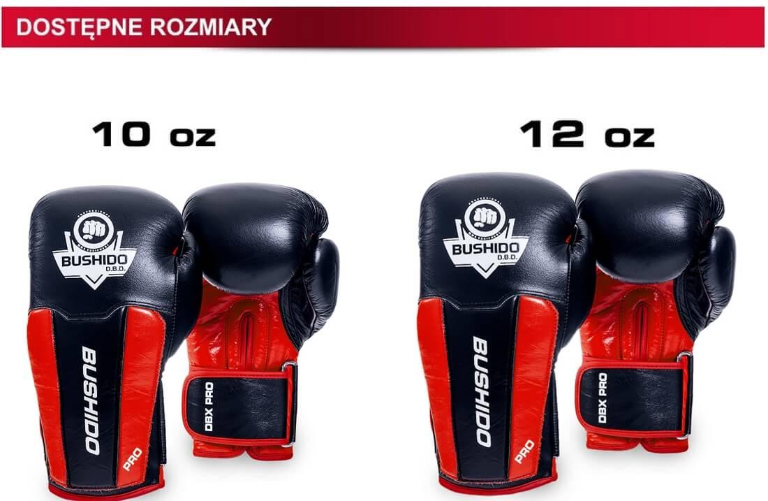 rozmiary rękawic bokserskich
