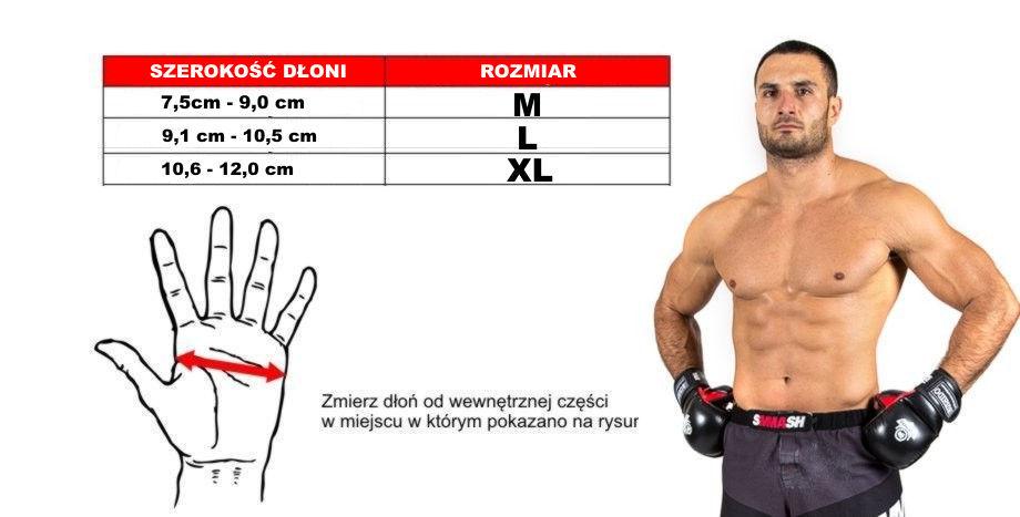 rękawice mma rozmiary