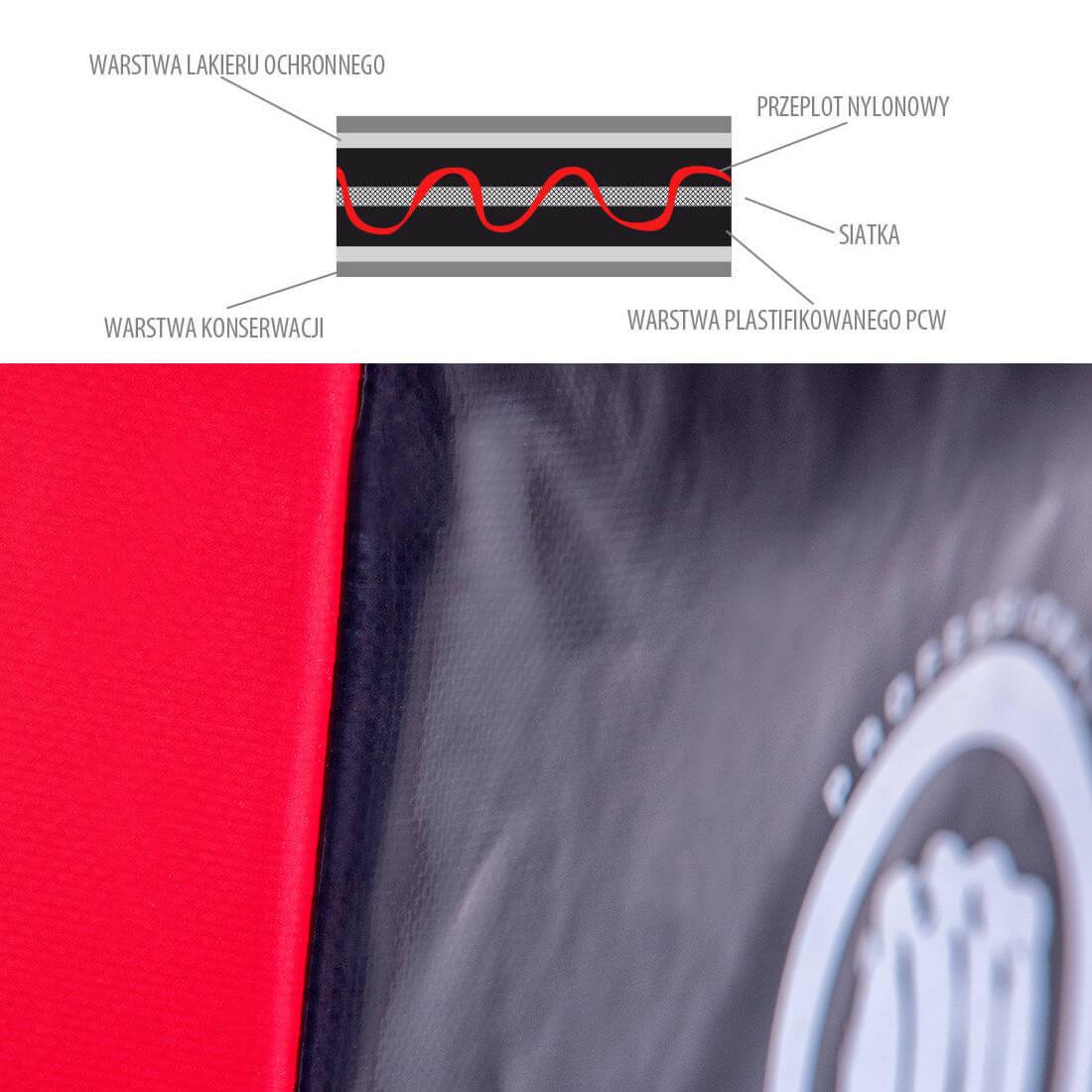tarcza treningowa ścienna materiał