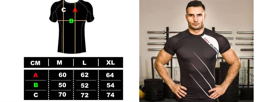 koszulka treningowa rozmiary